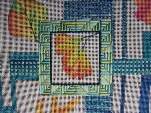 Leaf Collage Center Frame