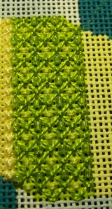 Lee Canvas Green with beads