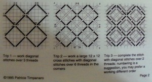 Memorial Wreath Background Stitch Diagram